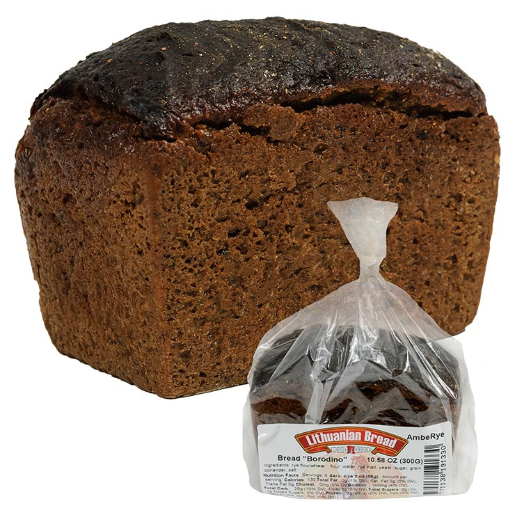 AmbeRye Borodino Russian Dark Rye Bread 300g