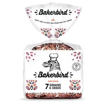 Bakerbird 7 Grains Dark Bread 300g
