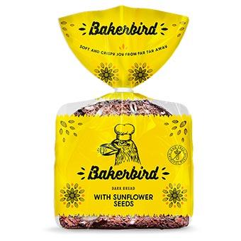 Bakerbird Dark Bread with Sunflower Seeds 300g