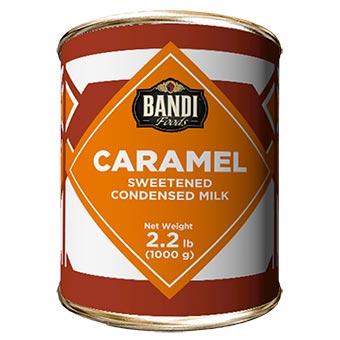 Bandi Caramel Sweetened Condensed Milk with Easy Opener 1kg