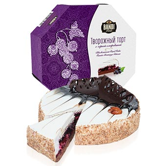 Bandi Curd Cake with Black Currant