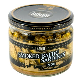 Bandi Foods Smoked Baltic Sardines in Oil 250g