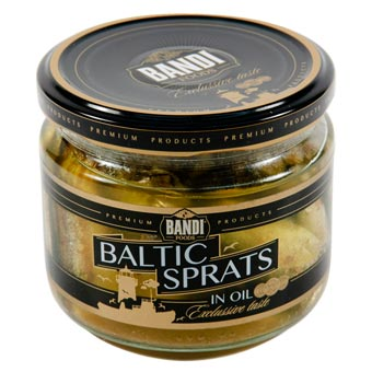 Bandi Foods Smoked Baltic Sprats in Oil 250g