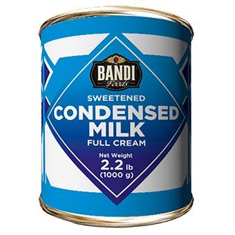 Bandi Full Cream Sweetened Condensed Milk with Easy Opener 1kg