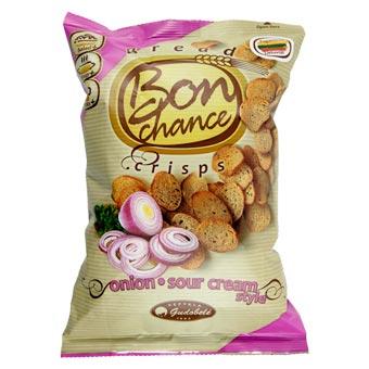 Bon Chance Sour Cream Bread Crisps with Onion