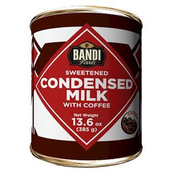 Bandi Coffee Sweetened Condensed Milk with Easy Opener