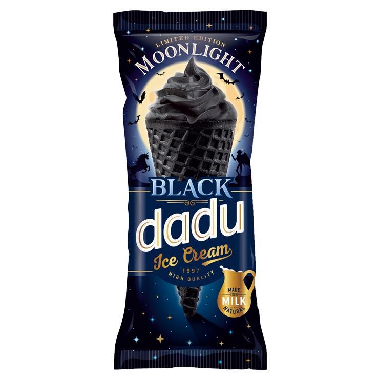 Dadu Black Ice Cream Waffle Cone 150ml