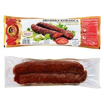 Georges Brand Sremska Kobasica Hickory Smoked Dried-Pork-Sausage