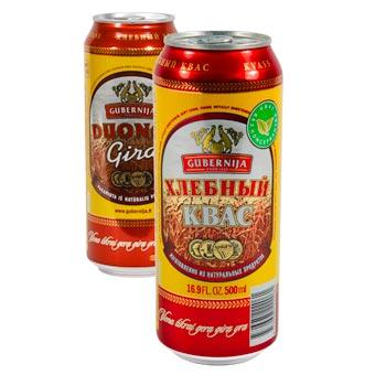 Gubernija Russian Kvass Naturally Carbonated Soft Drink 500ml Can