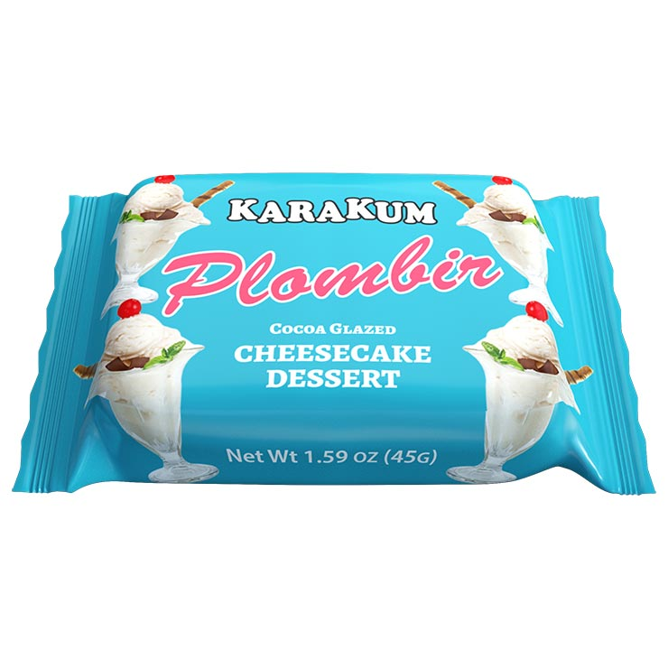 Karakum Plombir Cocoa Glazed Cheesecake Dessert 45g