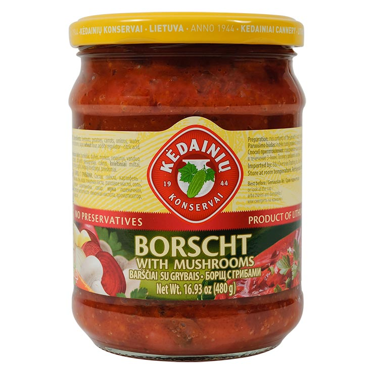 Kedainiai Borscht with Mushrooms 480g
