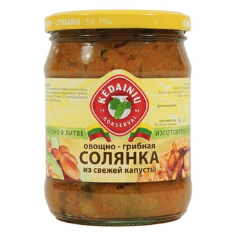 Kedainiu Solyanka Soup From Fresh Cabbage Mushrooms Vegetables