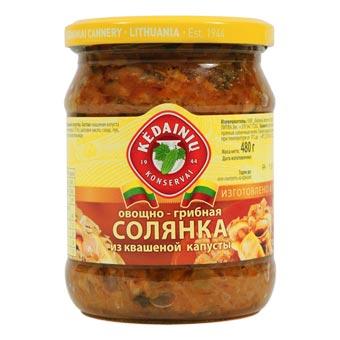 Kedainiu Solyanka Soup From Pickled Cabbage Mushrooms Vegetables
