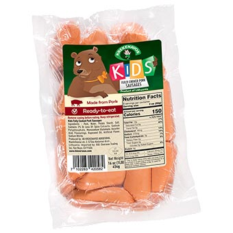 Krekenavos Kids Cooked Pork Sausages