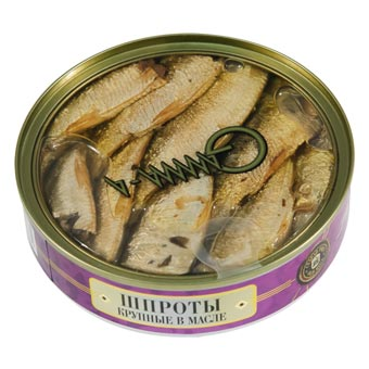 Old Riga Big Sprats in Oil Clear Top (Easy Opener) 160g