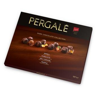 Pergale Dark Chocolate with Whisky Hazelnuts Milk Caramel Truffle 187g