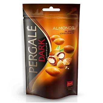 Pergale Dragee Almonds in Dark Chocolate 100g