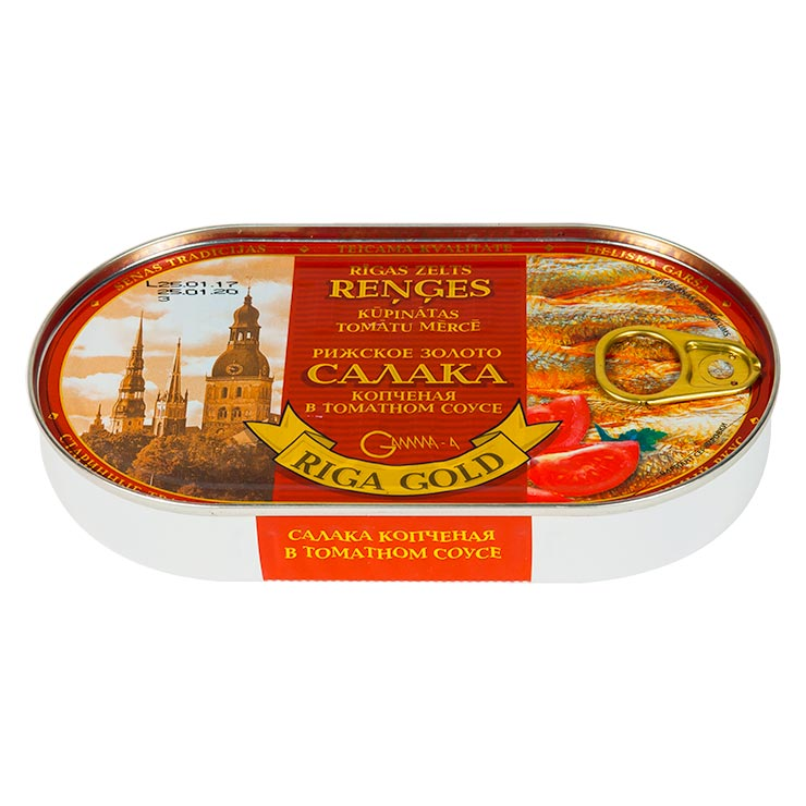 Riga Gold Smoked Baltic Herring In Tomato Souce