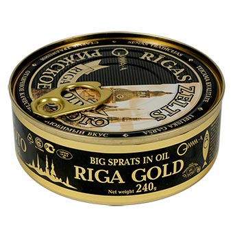 Riga Gold Smoked Big Sprats in Oil EO 240g