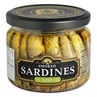 Riga Gold Smoked Sardines in Olive Oil 250g