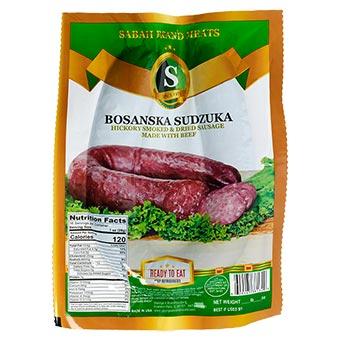 Sabah Brand Bosanska Sudzuka Dried Beef Sausage